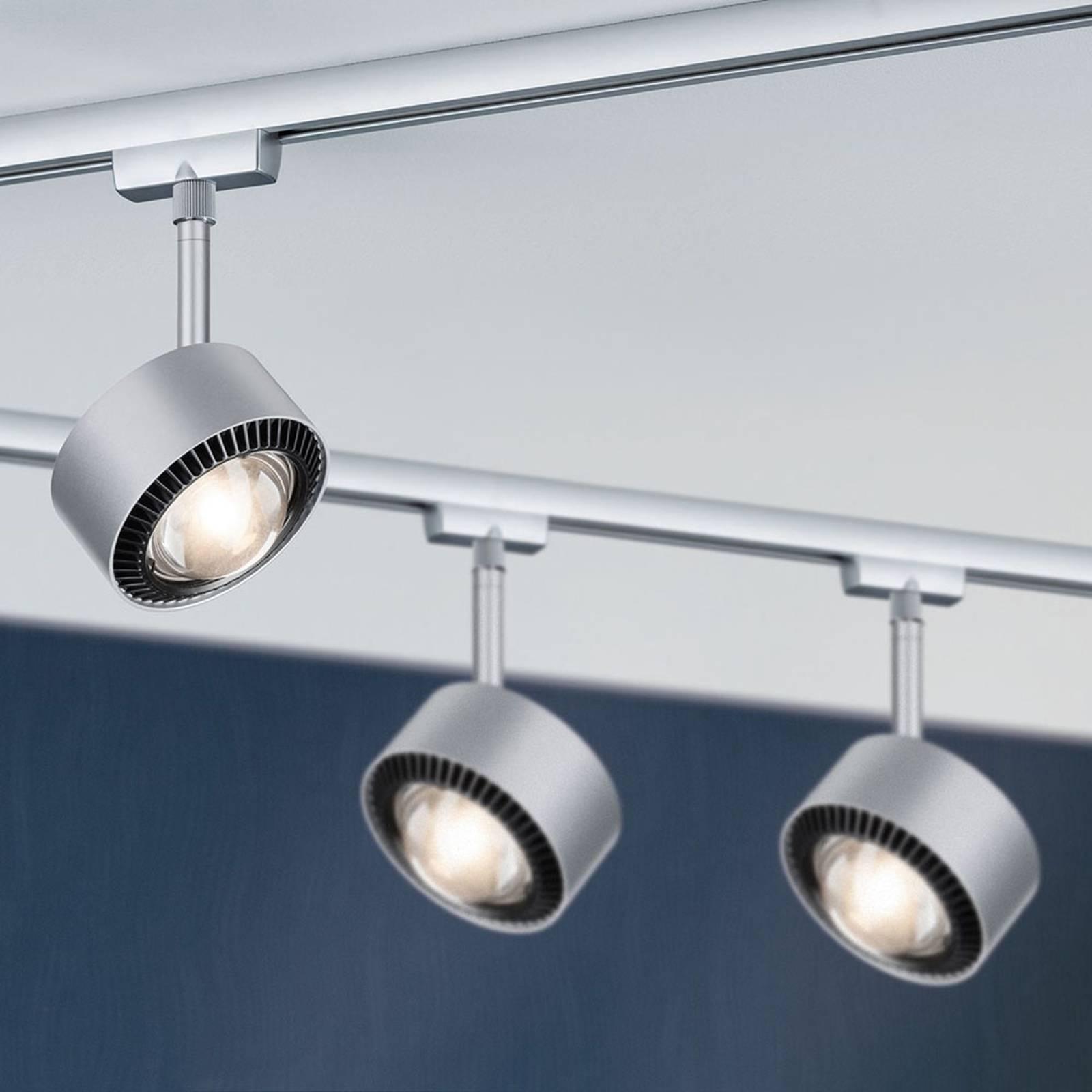 Paulmann-LED-kohdevalaisin Aldan URail kromi/musta