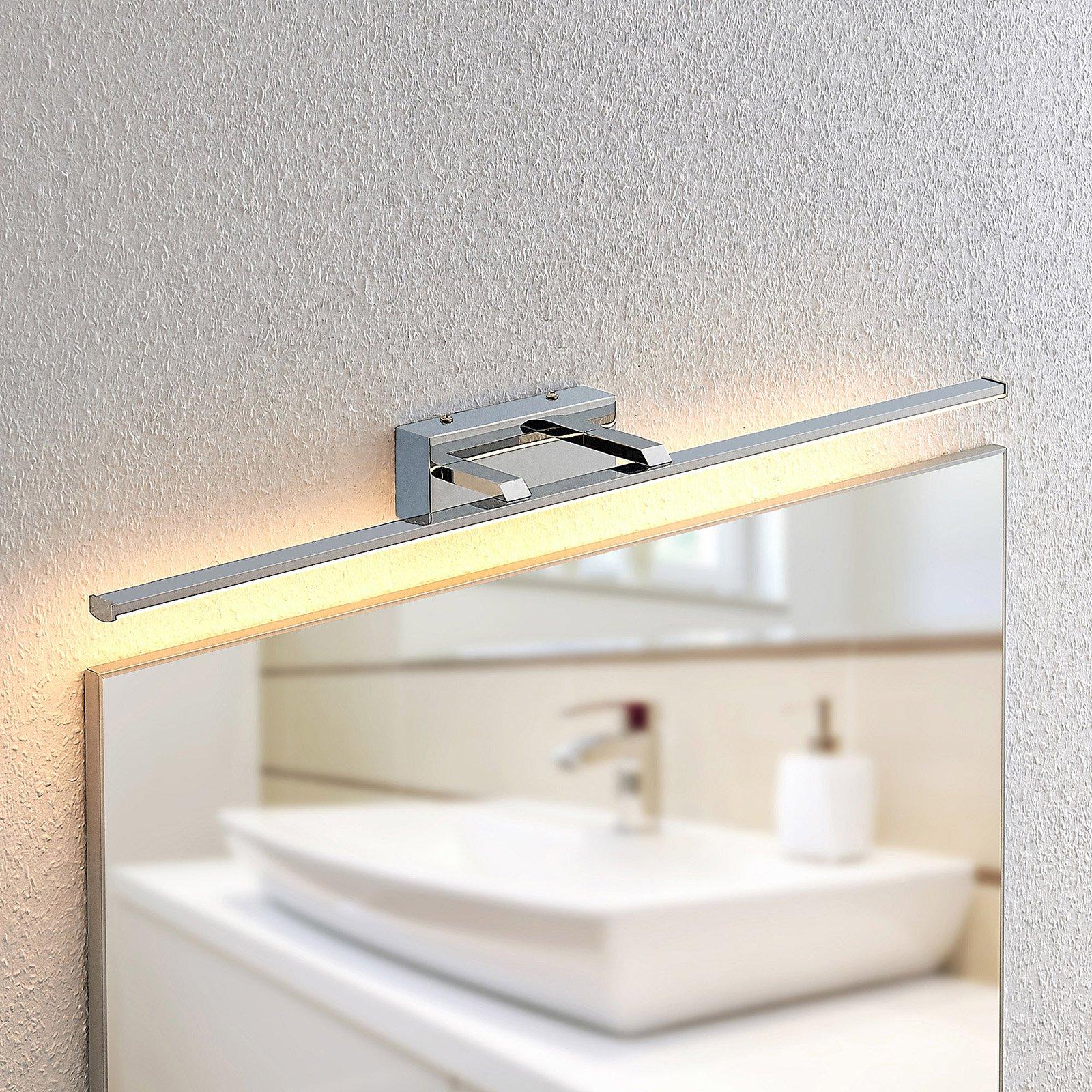 Lindby Eloni LED-vegglampe til bad, krom