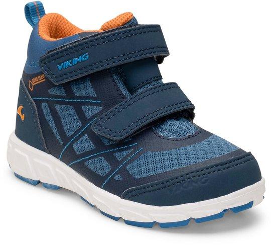 Viking Veme Mid GTX Sneaker, Navy/Denim, 22