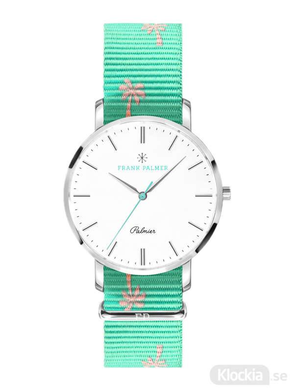 Frank Palmer - Palmier Steel Case - Turquoise Nato FPW0034