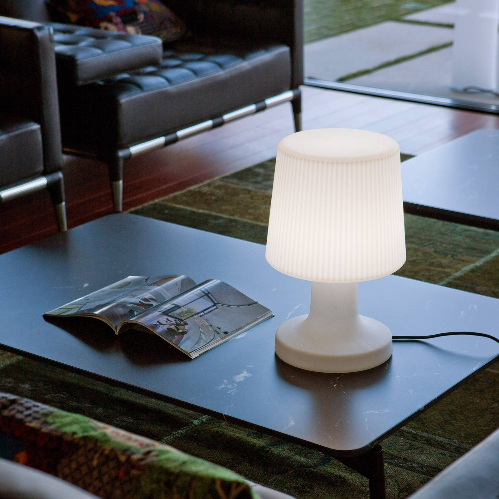 Newgarden Carmen -LED-pöytävalo, johto 6500 K IP65