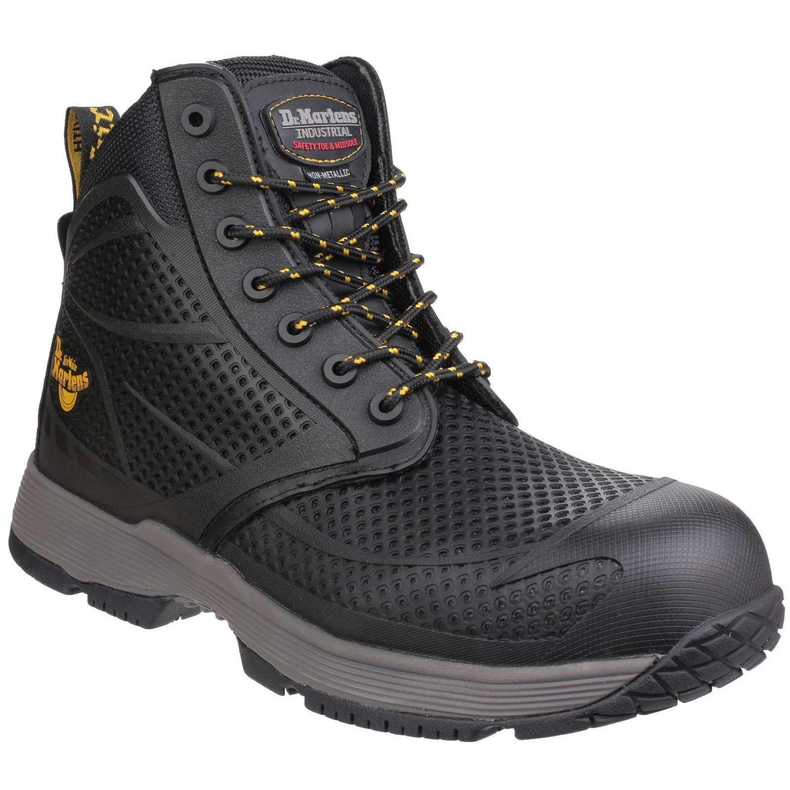 Dr Martens Unisex Calamus Lace up Safety Boot Black 24535-40574 - Black 12