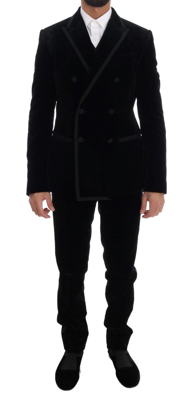 Dolce & Gabbana Men's Double Breasted Slim Suit Beige KOS1125 - IT48 | M