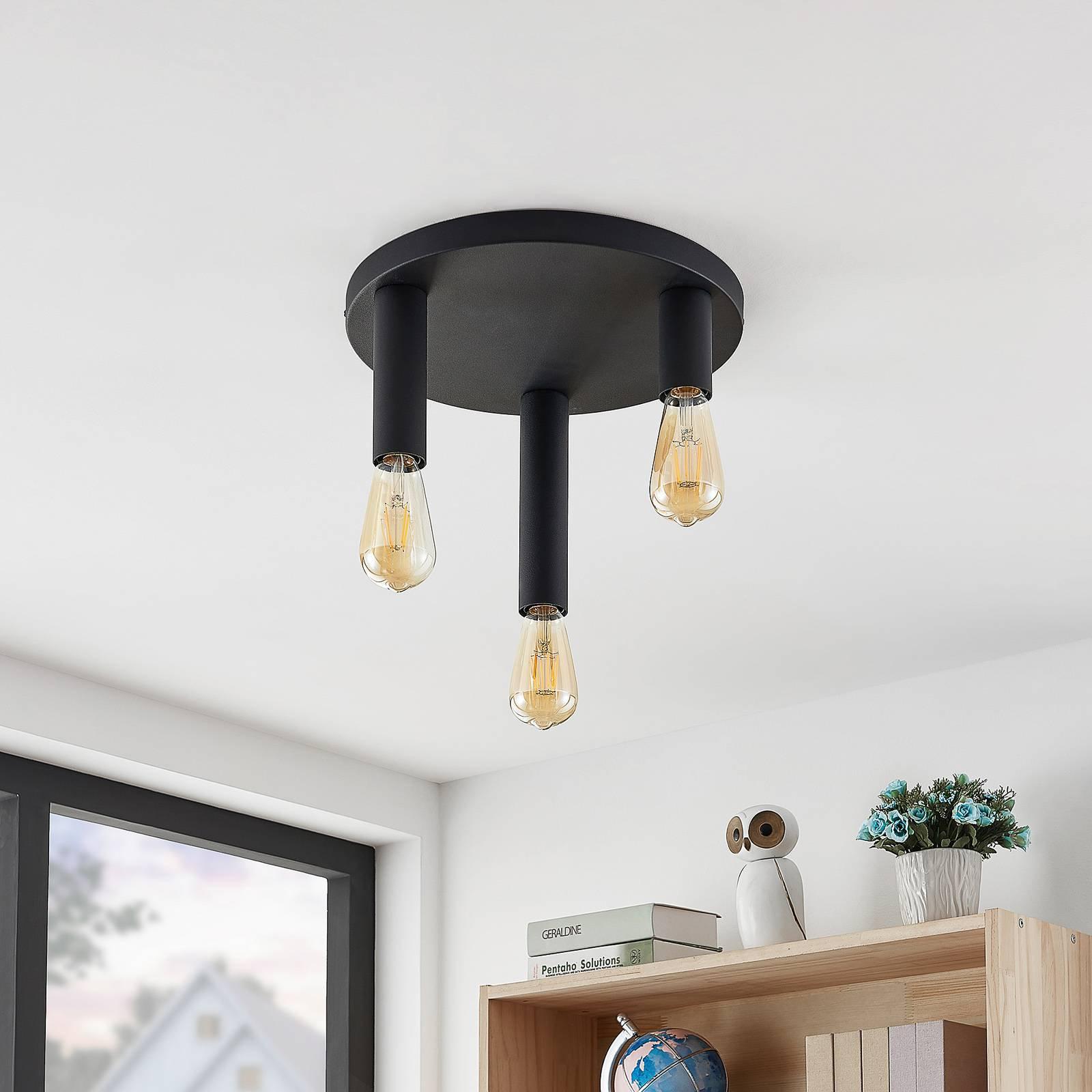Lindby Belana taklampe rund, 3 lyskilder