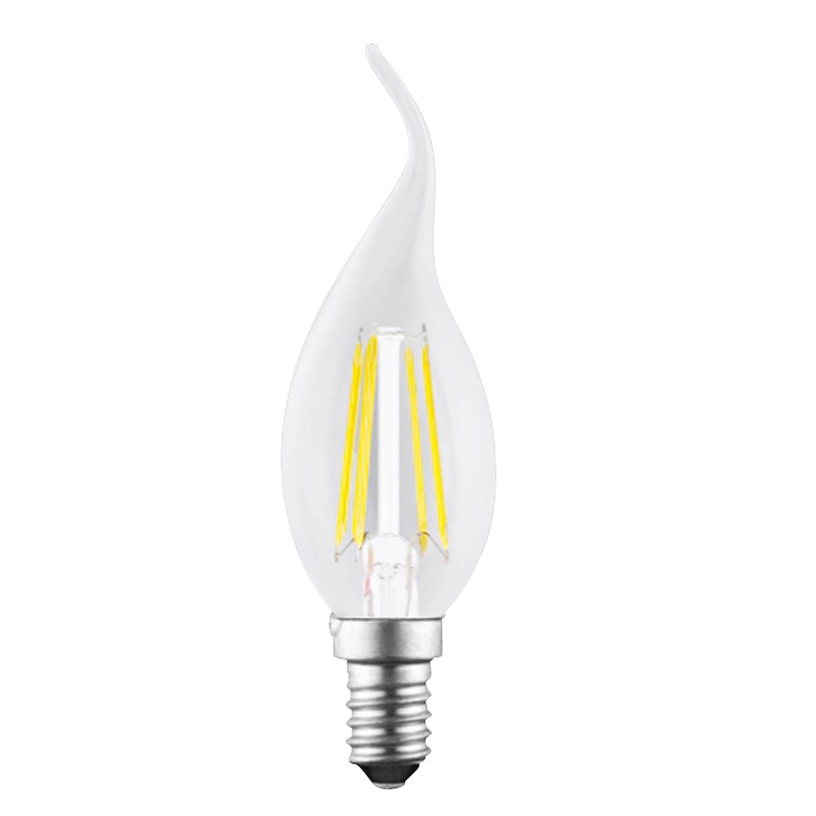 LED-kynttilälamppu E14 4W Filament kirkas 827