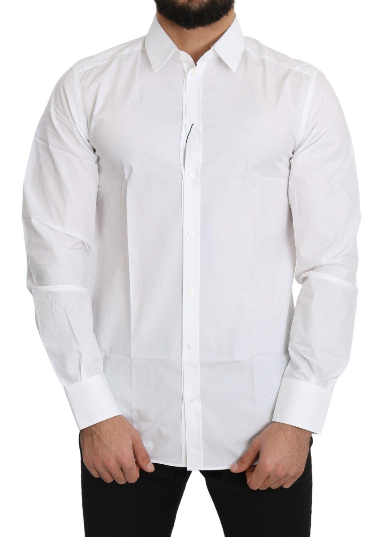 Dolce & Gabbana Men's Solid Cotton Shirt White TSH5169 - IT41 | L