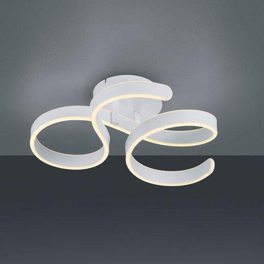 LED-taklampe Francis, matt hvit