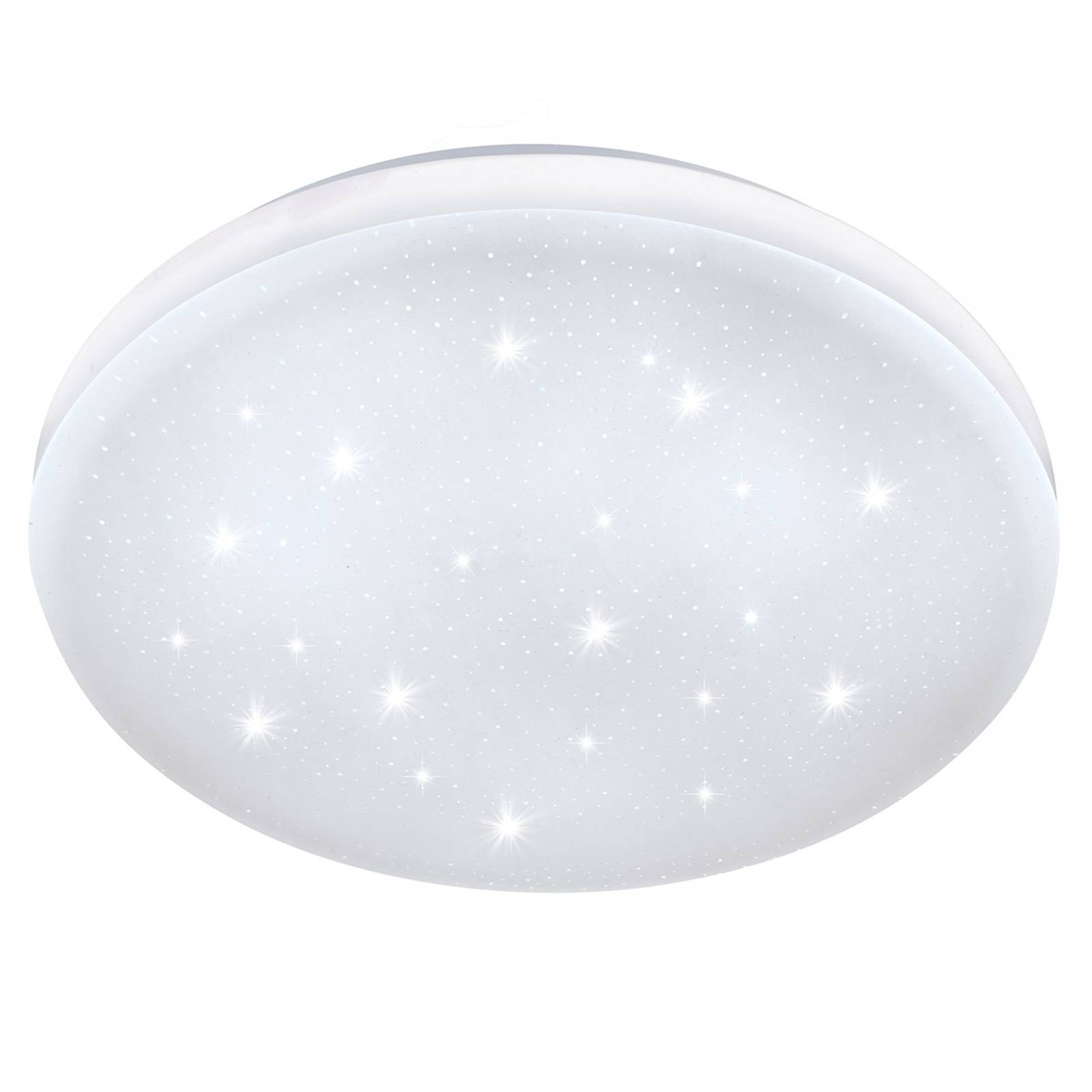 Frania-S-LED-kattovalo, kristallitehostein Ø 33 cm