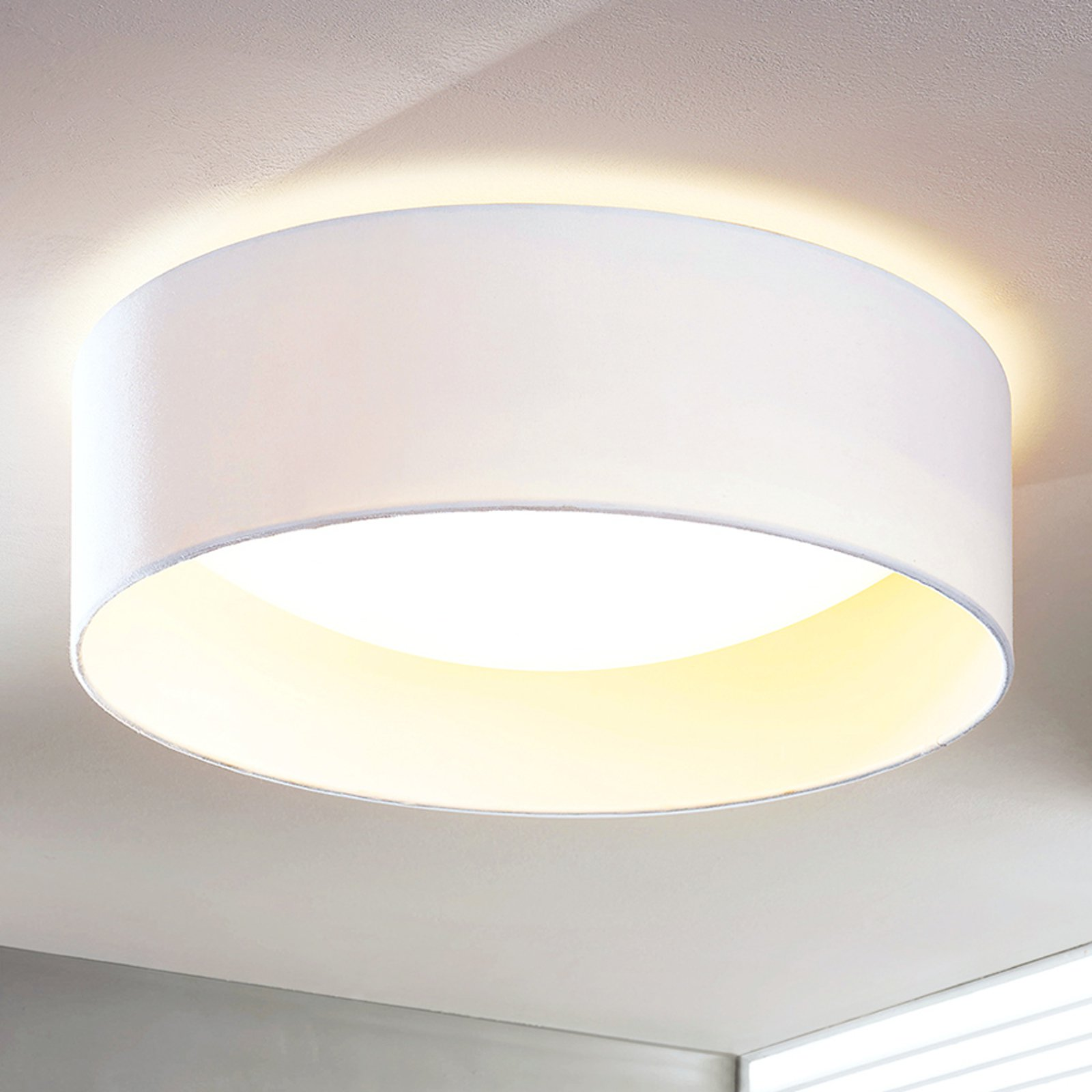 LED-taklampe Franka, hvit, 41,5 cm