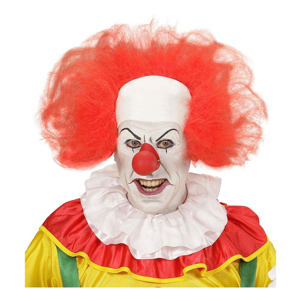 Clownperuk Röd med Flint - One size