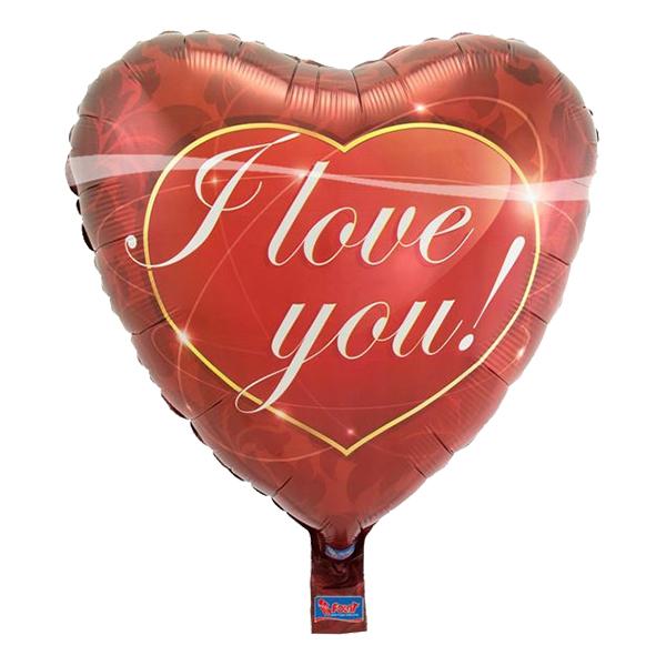 I Love You Hjärta Folieballong