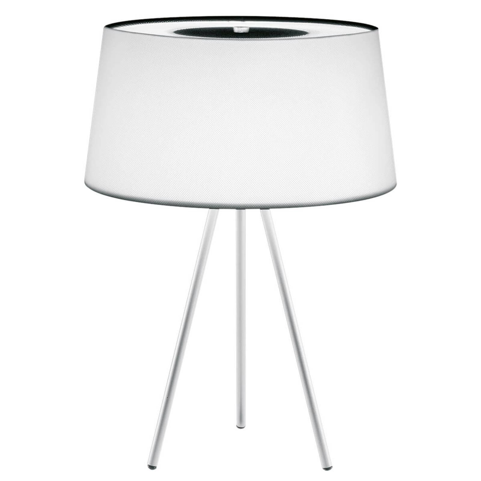 Edel bordlampe Tripod hvit/ grå fot