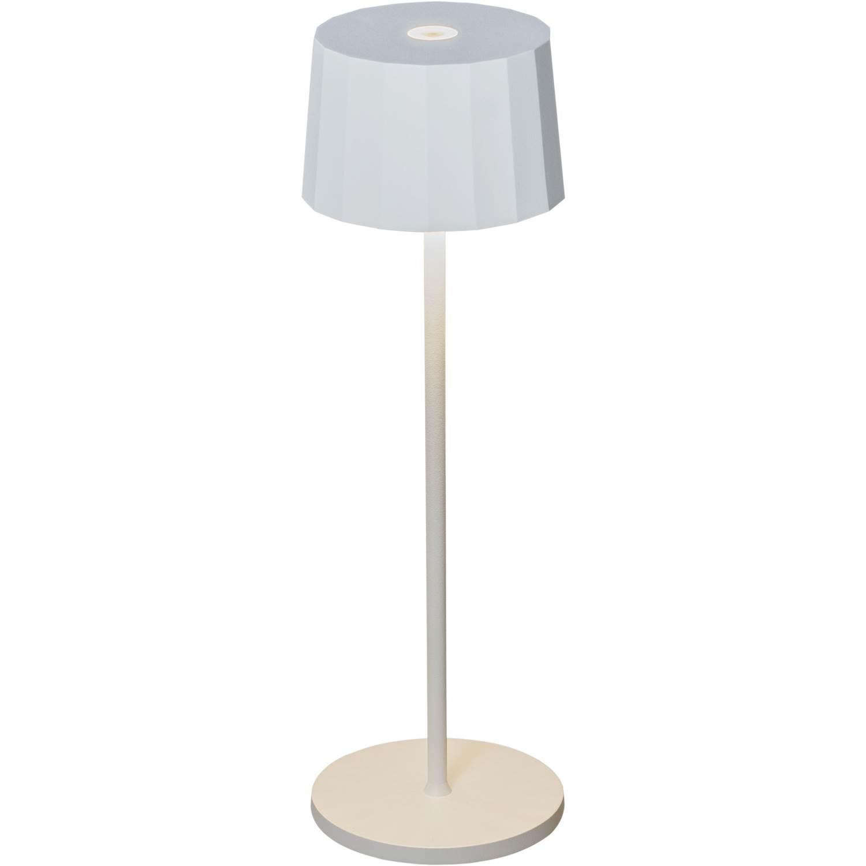 Konstsmide Positano bordslampa vit USB