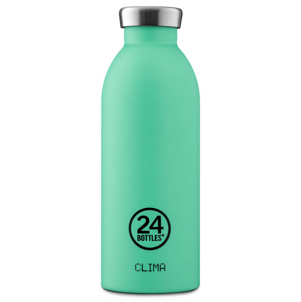24 Bottles - Clima Bottle 0,5 L - Stone Finish - Mint (24B550)