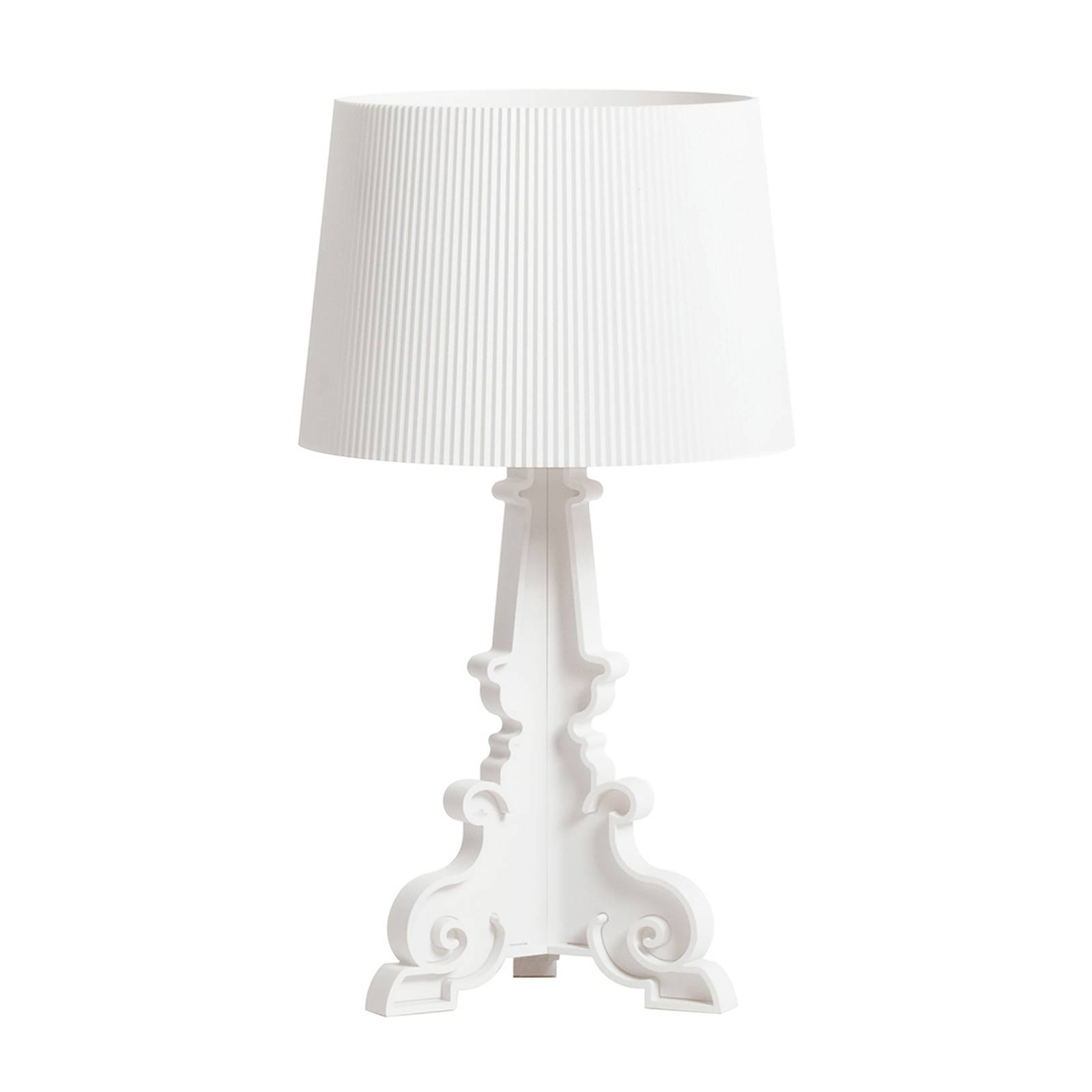 Kartell Bourgie Mat -LED-pöytälamppu E14 valkoinen