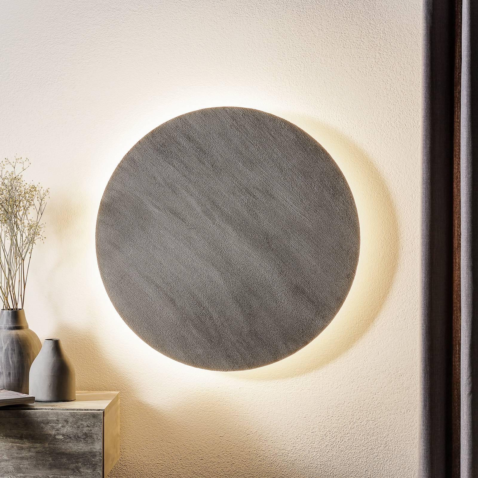 Escale Blade -LED-seinävalaisin, betoni, Ø 59 cm