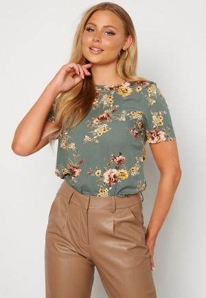 Happy Holly Emily woven top Dusty green / Patterned 52/54