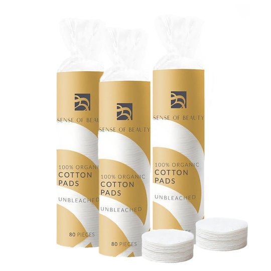 Organic Cotton Pads, Sense Of Beauty Ihonhoitolaitteet