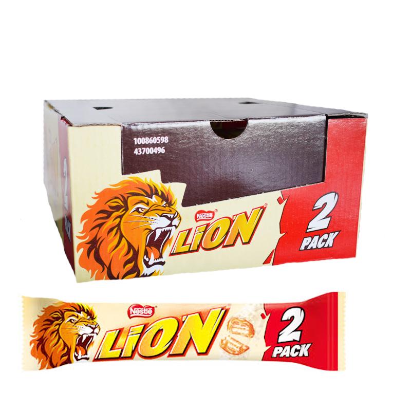 "Hel låda Chokladbars ""Lion white"" 28 x 60 - 62% rabatt"
