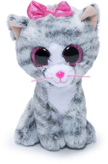 TY Kosedyr Kiki Katt 15,5 cm, Grå