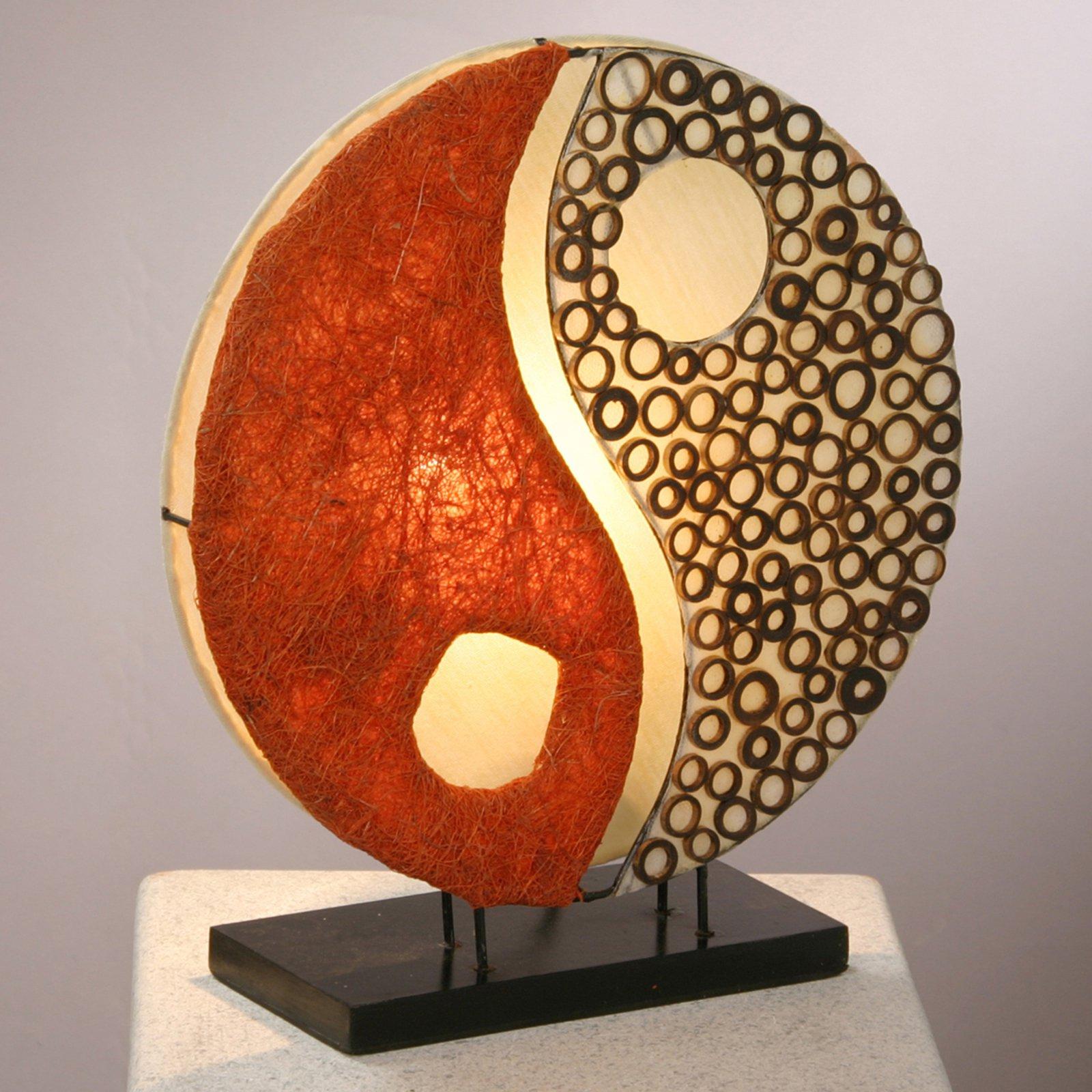 Bordlampe Ying Yang med trefot