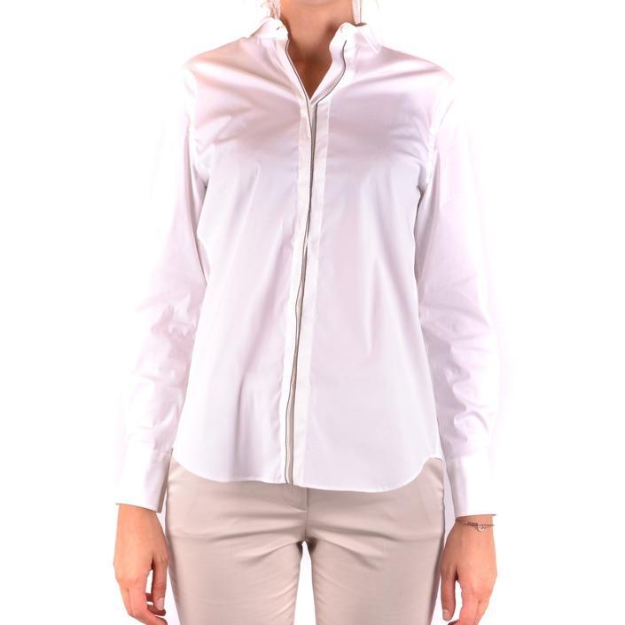 Brunello Cucinelli Women's Shirt White 163940 - white L