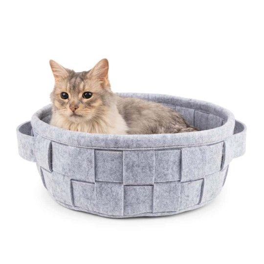 Basic Filtkorg Kattbädd Grå