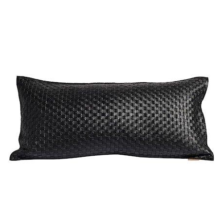 Pillowcase mocca knitted – Svart, inkl. innerpute