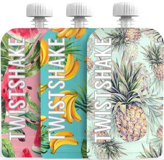 Twistshake Klemmepose 100 ml 3-pack