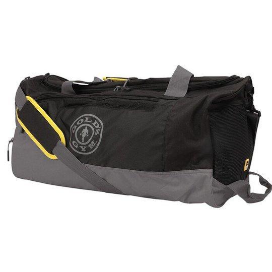 Golds Gym Contrast Travel Bag, Grey/Black