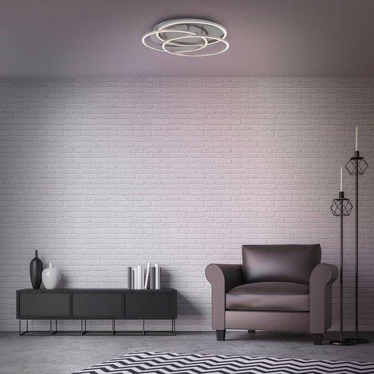 LED-taklampe Frames tre ringer minnefunksjon