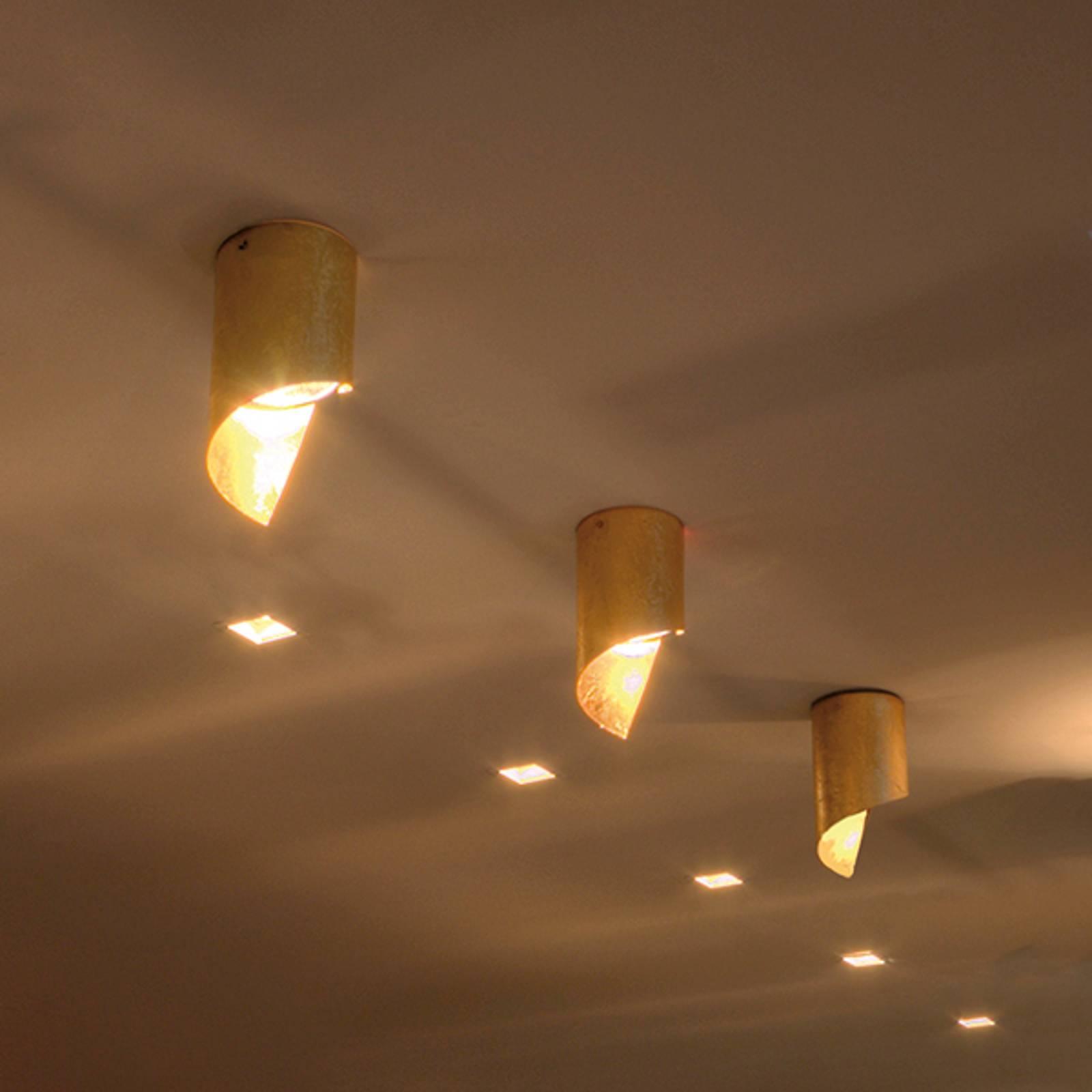 Knikerboker Hué -LED-kattolamppu 8x15cm lehtikulta
