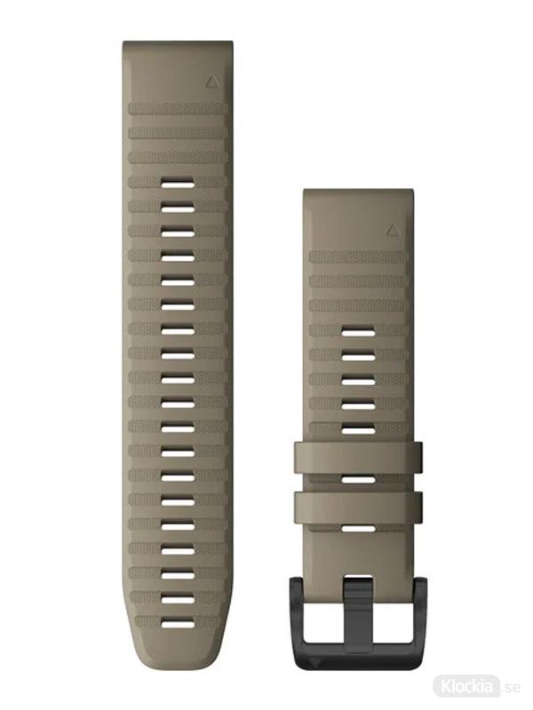 Garmin QuickFit 22mm - Klockarmband, Mörk Sandstensfärgad Silikon