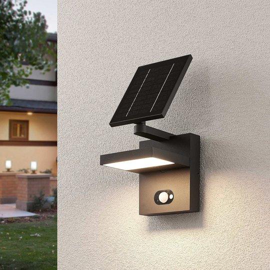 Aurinkokäyttöinen LED-seinävalaisin Silvan sensori