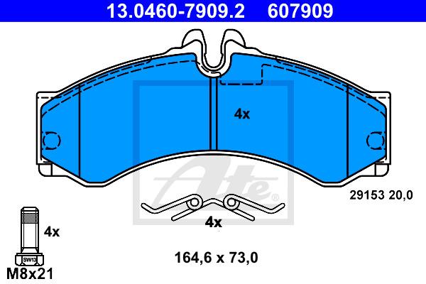 Jarrupalasarja, levyjarru ATE 13.0460-7909.2