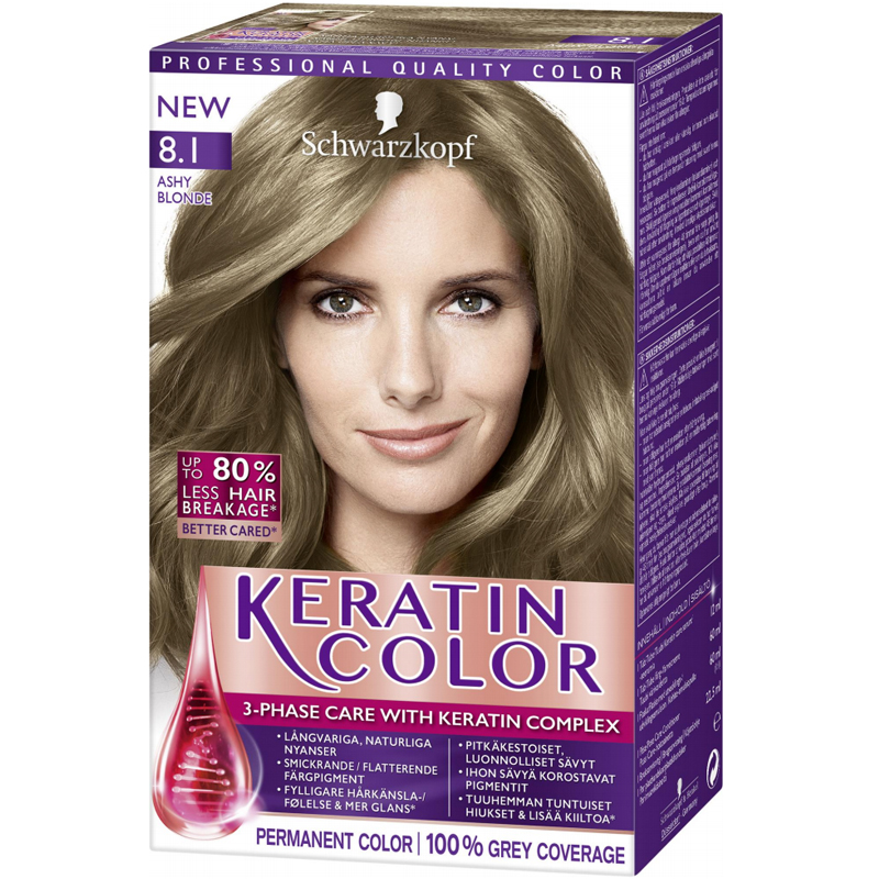 "Hiusväri ""Keratin Color Ashy Blonde"" - 37% alennus"