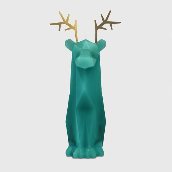 Pyropet Dýri Teal Reindeer Candle