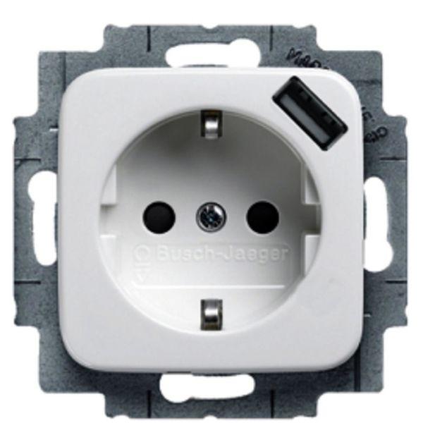 ABB E1815004 Vegguttak 1-veis, USB, 0,7 A