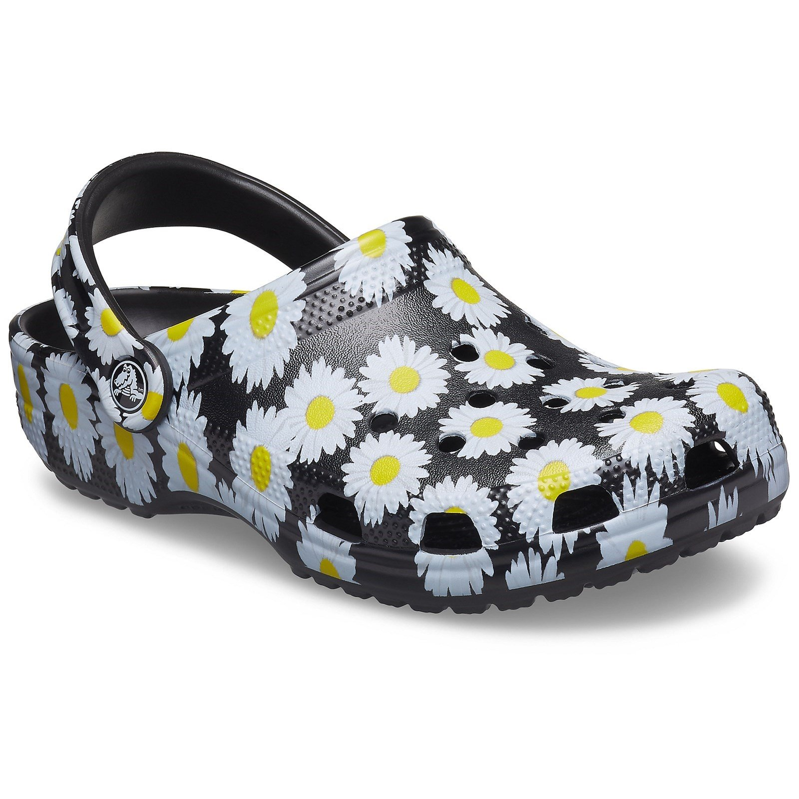 Crocs Unisex Vacay Vibes Clog Shoe Various Colours 31866-55895 - Black Daisy 3