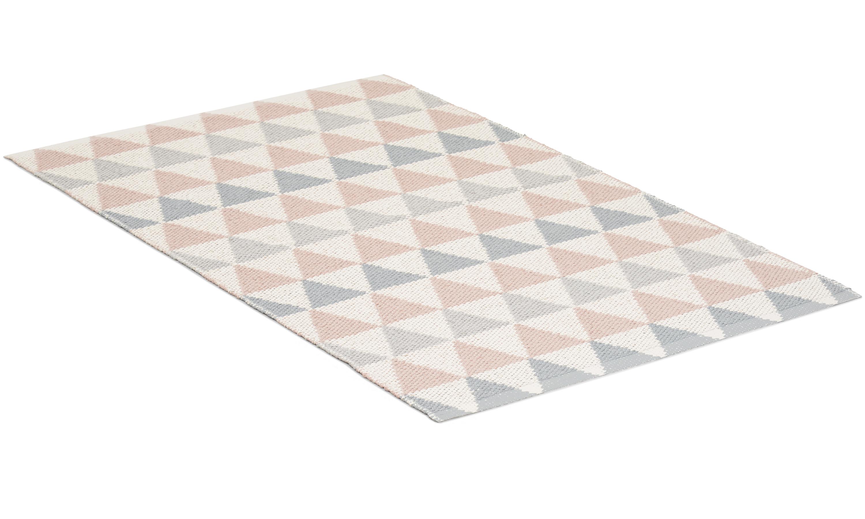 Tribus rosa/grå - plastteppe