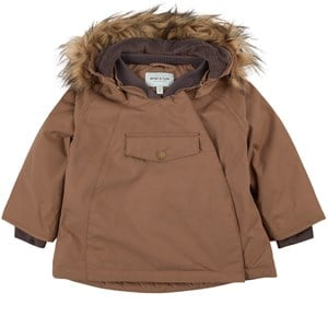 Mini A Ture Wang Faux Fur Jacka Acorn Brown 12m/80cm