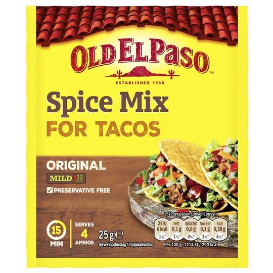 """Kryddmix """"For Tacos"""" 25g - 9% rabatt"""