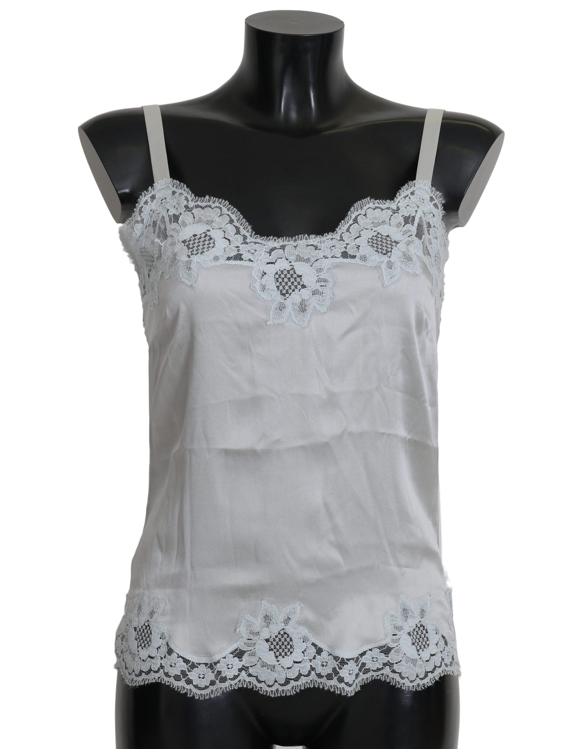 Dolce & Gabbana Women's Silk Lace Dress Lingerie White BIK246 - IT   XS