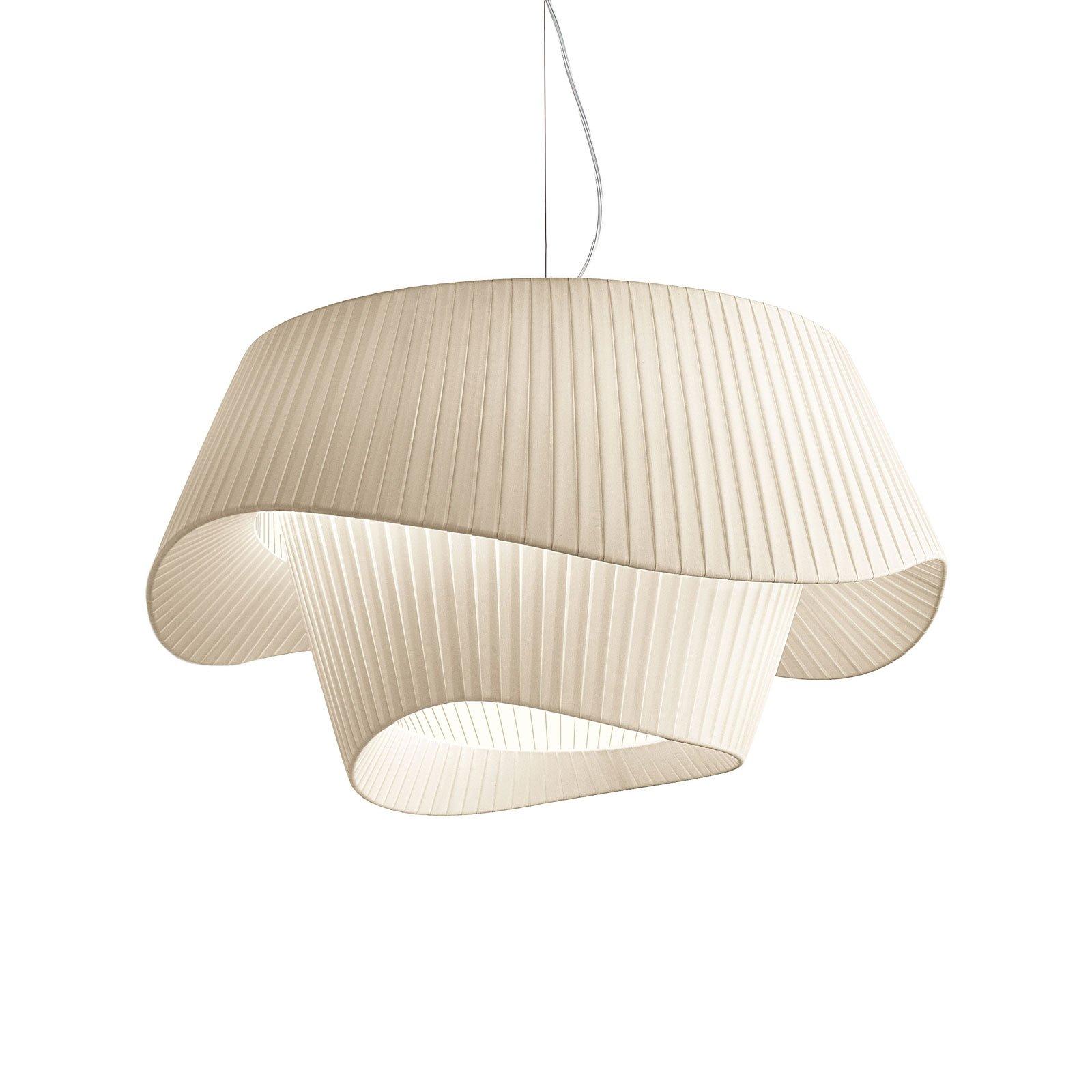Modo Luce Cocó tekstil-hengelampe Ø 60 cm beige