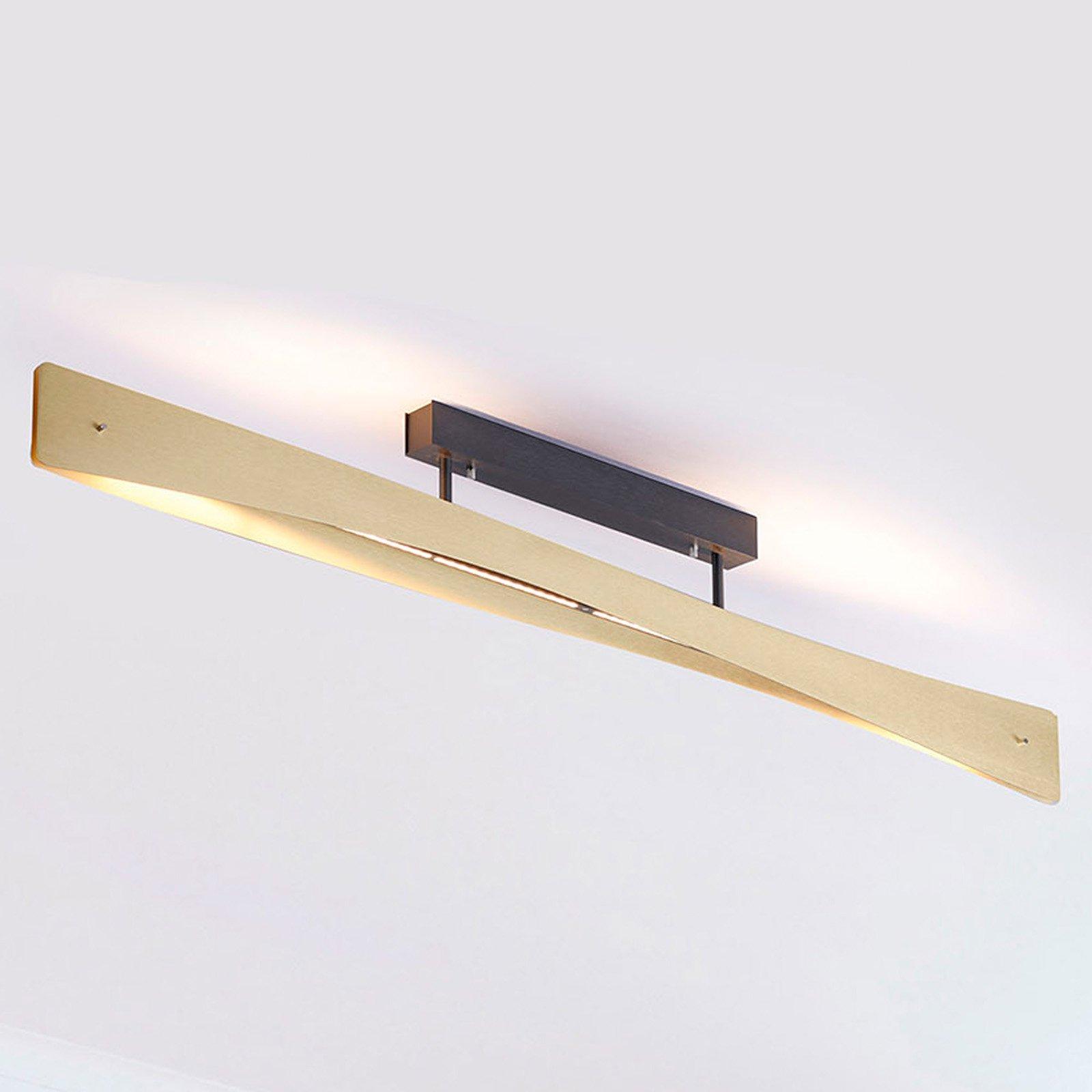 Lucande Lian LED-taklampe, messing, svart