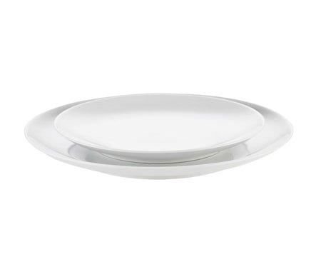 Cecil tallerken flat hvit, Ø 21 cm