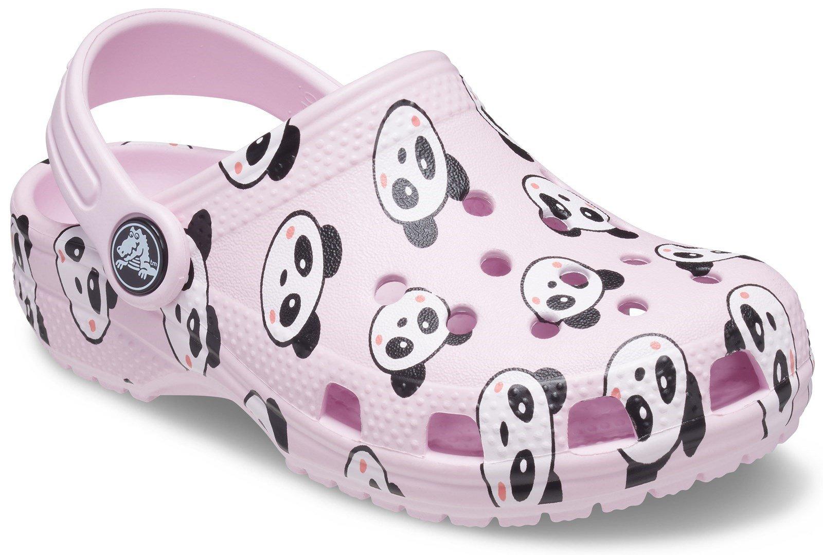 Crocs Kid's Classic Panda Print Clog Ballerina Pink 31877 - Ballerina Pink 9