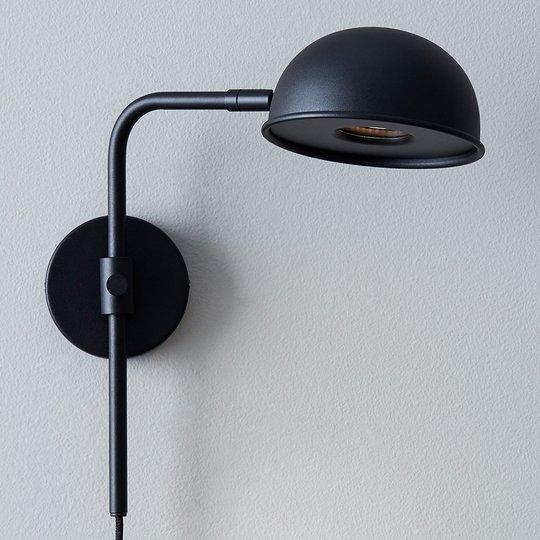 Bolero-LED-seinävalaisin himmentimellä, musta