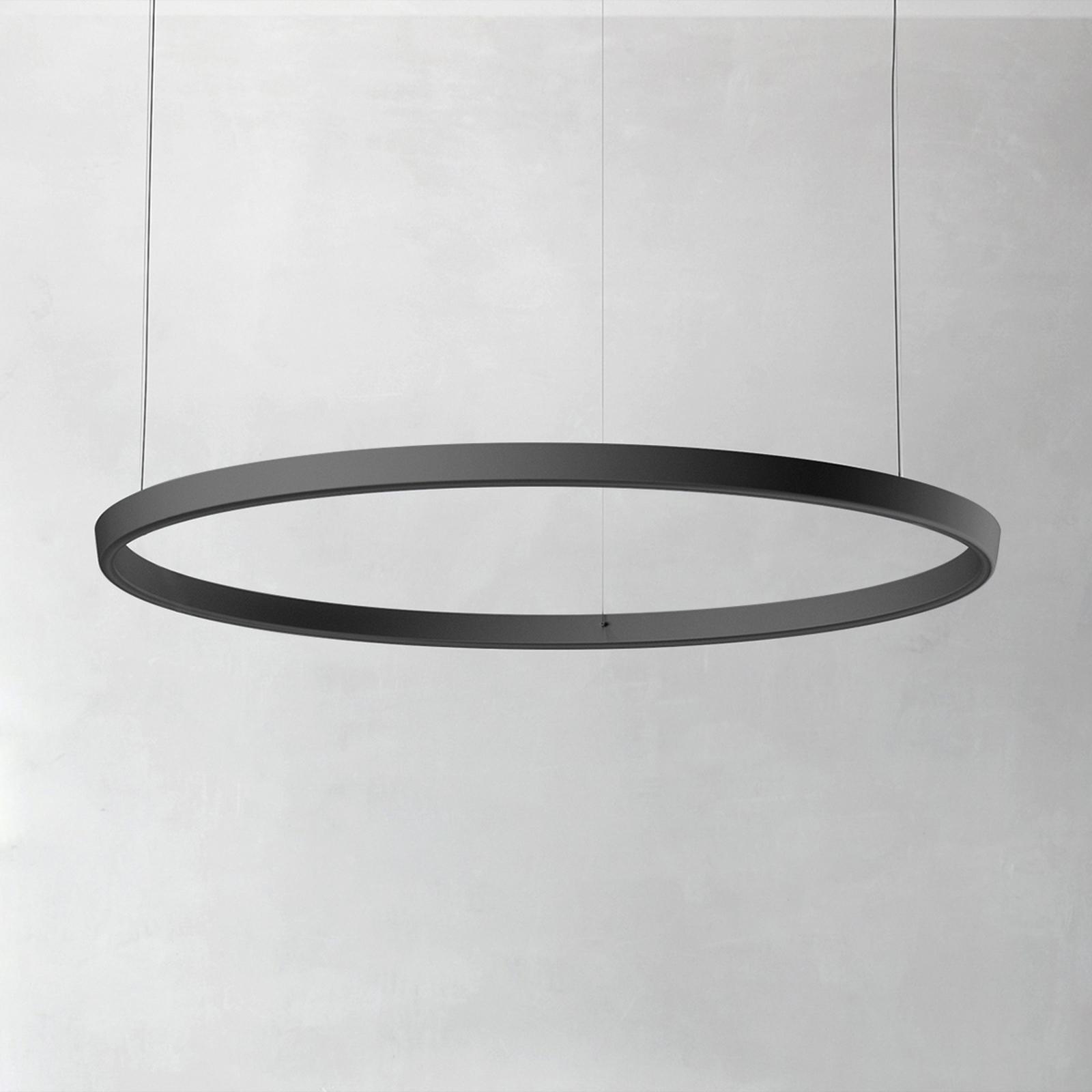 Luceplan Compendium Circle 110 cm, musta