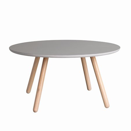 Russel Sofabord Rundt Grå/Hvitpigmentert eik 90 cm